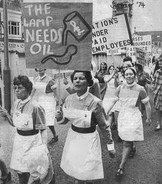 Nursing demonstration 1974