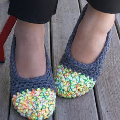 crocheted house shoes