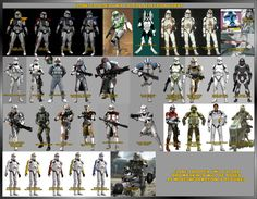 Star Wars Clone Troopers Types | ... The 501st Chapter in Washington State. • View topic - Clone Variants