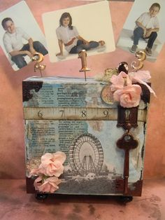 Picture holder.  What to do with all those blocks left from unmounting stamps... http://theartfulmaven.blogspot.com