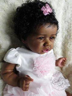 Ethnic Reborn Baby Girl for sale - Zaniya -Saskia by Bonnie Brown Reborn Dolls For Sale, Reborn Toddler Dolls, Reborn Baby Girl, Reborn Babies, Cute Black Babies, Cute Babies, Minnie Mouse Nursery, Baby Doll Furniture, American Baby Doll