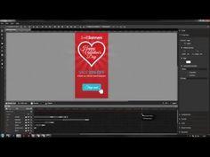 Google Web Designer Tutorial - Building a Valentine's Banner in GWD - YouTube