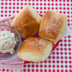 Copy Cat Texas Roadhouse Rolls with Cinnamon Honey Butter-- absolutely looove TRH, so this is a must-try!