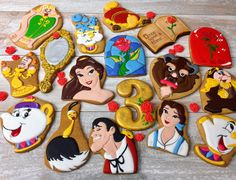 Sophisticated Beauty and the Beast Cookies  Disney cookies