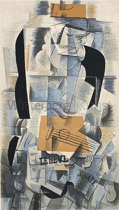 GEORGES BRAQUE Argenteuil 1881 - 1963 Paris Jeune Fille à la Guitare. Farblithographie nach einer 1 — Artes gráficas