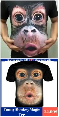 Funny Monkey Magic Tee - Funny Monkeys - Funny Monkeys meme - - The Mountain uses only environmentally friendly inks Dyes to bring you a durable and comfortable top Perfect for daily wear in any occasion The best gift for friends Funny Images, Funny Pictures, Top Funny Videos, Funny Jokes, Hilarious, Best Friend Tattoos, Meme Faces, Personalized T Shirts, Funny Gifts