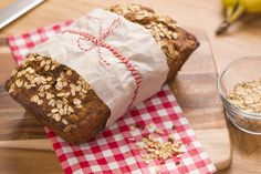 Our Banana Oat Bread uses significantly less sugar than other recipes, making it a great after school snack.