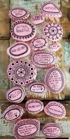 Affirmation stones words of encouragement painted rock wedding 35 beautiful unique rock painting ideas lets make your own creativity solutioingenieria Images