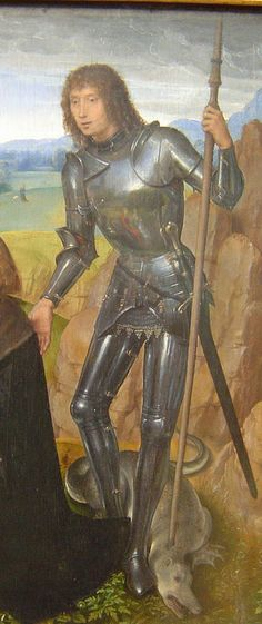 ca. 1480 - 'St. George and donor' (Hans Memling), Alte Pinakothek, München, Bayern, Germany