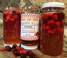 SUMMER BLISS - wild raspberry infused honey - 12 oz by Sweet Pea Farm on Gourmly