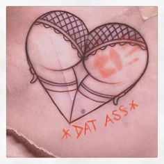 ass heart old tattoo booty - Pesquisa Google