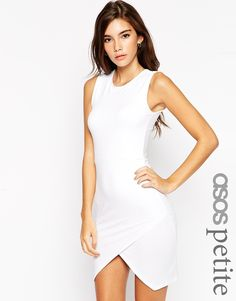 ASOS PETITE Asymmetric Sleeveless Bodycon Dress