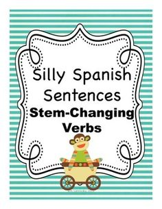 Spanish stem changing verb writing activity - my kids loved this Spanish Lessons For Kids, Spanish Lesson Plans, Spanish Activities, Writing Activities, Elementary Spanish, Spanish Classroom, Teaching Spanish, Spanish Sentences, Spanish Grammar