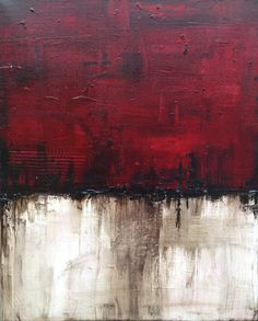 Textured Red Abstract Painting on Etsy, $85.94
