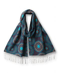 Circle Jacquard Scarf This Circle Jacquard Scarf is super soft and cosy making it the perfect winter accessory for day or night. Read more at http://www.east.co.uk/circle-jacquard-scarf-blue/#QHlgqTWFcSELlKUR.99
