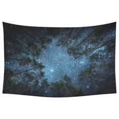 InterestPrint Beautiful Night Sky Wall Art Home Decor, the Milky Way and the Trees Tapestry Wall Hanging Art Sets 40 X 60 Inches (One Side Printing) Tree Tapestry, Bohemian Tapestry, Colorful Tapestry, Hanging Art, Tapestry Wall Hanging, Wall Hangings, Wish Lanterns, Elephant Tapestry, Mandala