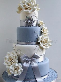 See more of our Wedding Cakes by visiting our website: www.fabulouscakec...