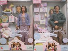 'Late-in-Life Mommy' Barbie and husband Ken, sold separately. Fully stocked nursery included since they long ago sold all their baby crap at a garage sale. New Barbie Dolls, Barbie And Ken, Barbie Clothes, Barbies Dolls, Barbie Stuff, Doll Stuff, Barbie Happy Family, Mini Things, Barbie Collector