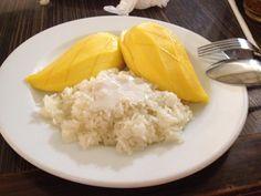 Mango sticky rice at the Bangkok airport! Love it!!!