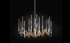WOW!!!! Il-Pezzo-3-Chandelier-21-lights-brass-crystal-LEDs