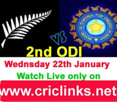 Wednesday 22nd January....2nd ODI between India vs Newzealand will be played at Hamilton..NZ lead the seris by 1-0.After a bad start of tour India need to fight back.Match will be start at 6.30 AM IST.6.00 PST.Watch live action only on http://www.criclinks.net/ #NZvsIndia
