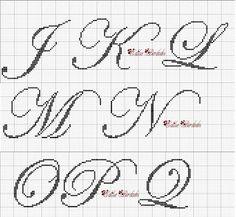 Oiieee!!!  Atendendo aos pedidos, estou postando alguns monogramas que fiz!!!