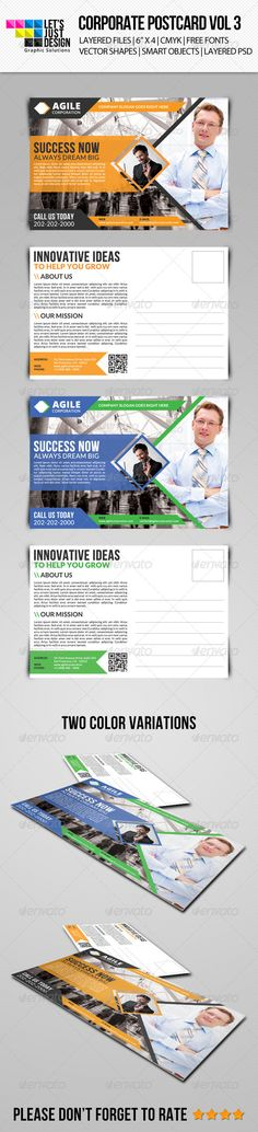 Corporate Postcard Template Vol 3 ...  ad, advert, advertisement, business, business flyer, business material, business postcard, company, consulting, corporate, corporate flyer, creative, design, designer flyer, flyer, fresh, hand bill, magazine, pamphlet, poster, psd, software firm, tech, tech flyer, technology consulting, technology flyer