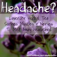 Clear away headaches with the gentle healing power of herbal tea!  #HerbalTea