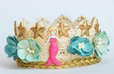 Proposición de sirena encaje corona corona por MagicGardenBowtique