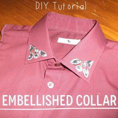 Make your own embellished collar bib www.thetwodarlings.com DIY Tutorial