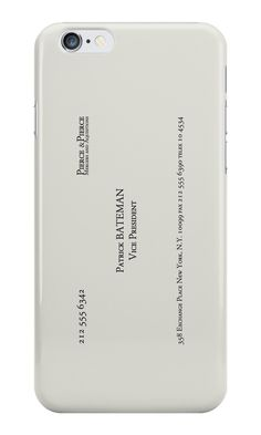 """""""Patrick Bateman Business Card"""" iPhone Cases & Skins by Jakob Ahlberg   Redbubble"""