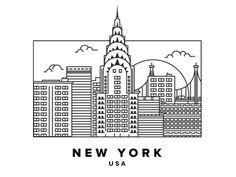 New York Postcard by Luca Burgio | Dribbble