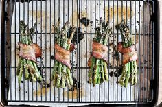 Caramelized Asparagus Wrapped in Bacon | 17 Mouthwatering Bacon-Wrapped Snacks You Need To Try