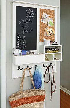 All in One Holder | 9 DIY Key Holders | Creative Home Organization Ideas by DIY Ready at http://diyready.com/9-diy-key-holders/