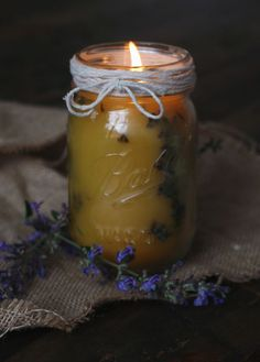 Pressed Flower Candles DIY