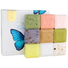 Soap Box Set Natural Bath Soaps With Essential Oils Christmas Gift Holiday Gifts #FLEURDEXTASE