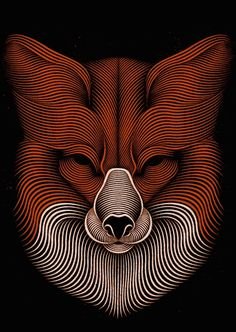 Hypnotic Digital Lines Portraits-Patrick Seymour