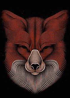 Hypnotic Digital Lines Portraits-10b – Fubiz™