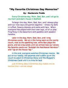 narrative essay for christmas The personal narrative must also provide a conclusion that wraps the story up and explains why the narrative mattered to the seventh grader, such as receiving a christmas gift of a long-wished for computer or receiving credits for an online game.