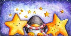 Advent Calendar Door No 2 by B-Keks Penguin Drawing, Penguin Art, Penguin Love, Cute Penguins, Funny Cartoon Pictures, Cute Cartoon, Cute Drawlings, Christmas Drawing, Cool Art Drawings