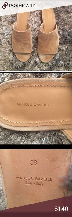 Mansur Gavriel Suede Flats Beige suede flats. Perfect condition, size is 9 but they run small so will fit size 8 perfectly. Mansur Gavriel Shoes Sandals