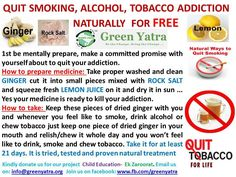 Would you like to give up your smoking addiction once and for all? Giving up smoking is not easy, and it requires a Quit Smoking Tips, Giving Up Smoking, Health And Fitness Tips, Health Tips, Health And Wellness, Smoking Addiction, Addiction Alcohol, Stop Smoke, Natural Healing