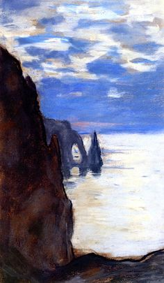 Étretat, The Needle Rock And Porte D'aval Artwork By Claude Oscar Monet Oil Painting & Art Prints On Canvas For Sale Claude Monet, Pierre Auguste Renoir, Edouard Manet, Post Impressionism, Impressionist Paintings, Monet Paintings, Landscape Paintings, Pastel Paintings, Artist Monet