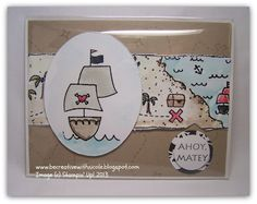 Be Creative With Nicole: Ahoy Matey!  A second set of cards made with Ahoy Matey from Flashback Friday