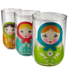 Matroesjka glazen die in elkaar passen!