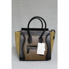 celine black navy taupe tricolor suede leather trapeze bag