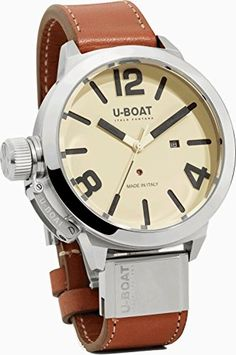 U-Boat 7126 Classico Men's Wristwatch AS Shiny Bezel – Houffpauir Swiss Watches Rose Gold Apple Watch, Famous Men, Automatic Watch, Stainless Steel Watch, Stylish Men, Luxury Watches, Fashion Watches, Watch Bands, Watches For Men