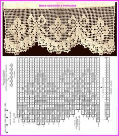Bird Curtains, Crochet Curtains, Crochet Doilies, Crochet Lace, Love Crochet, Crochet Cord, Thread Crochet, Filet Crochet, Crochet Stitches