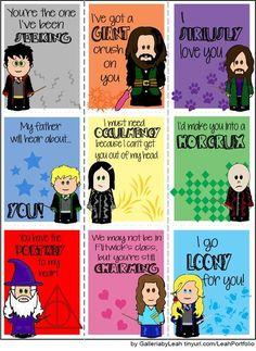 Lol Harry potter valentines