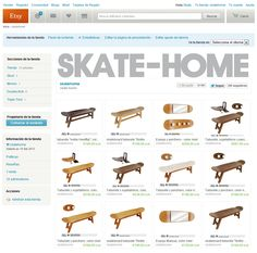 Skateboard gifts, decoration & furniture for skaters por skatehome Etsy Free Shipping, Skate, Creative, Gifts, Shopping, Tool Cart, Gift Cards, Tents, Presents